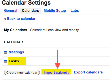 google calendar import calendar